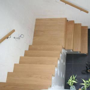 10 Eiken Treden Op Betontrap-houten Trappen